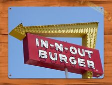 "TIN-UPS TIN Sign ""In N Out Burger"" Vintage Restaurant Beer Store California"
