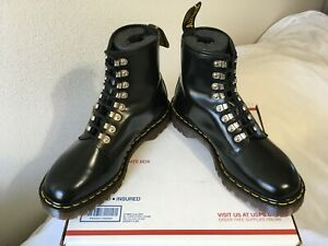 90s Vintage Dr Martens 10 boots 8-eye Made in ENGLAND metal tunnel 8217 mie 1460
