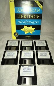 """1992 American Heritage Dictionary Third Edition for MAC Macintosh 3.5"""" Disks"""