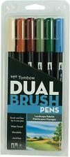Tombow Dual Brush Pen Landscape Palette Set of 6