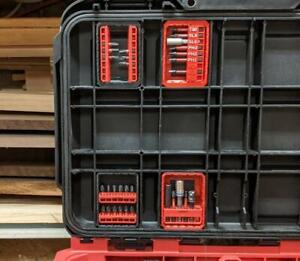 Bit Trays 2 pieces - for Milwaukee Packout Rolling Toolbox