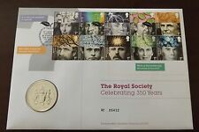 GB QEII  PNC B/UNC 2010 ROYAL SOCIETY COVER AND COIN/MEDAL ROYAL MINT