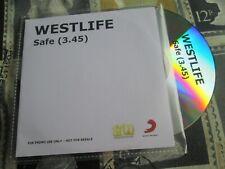 Westlife – Safe Sony Music Syco Entertainment CDr UK Promo CD Single