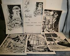 Life On Other Worlds Vintage Sci Fi Prints 1978 Rosebud Production - New In Pkg