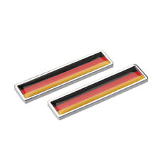 1 Pair Car Styling German Flag Logo Auto Sticker Emblem Badge Decal Accessories