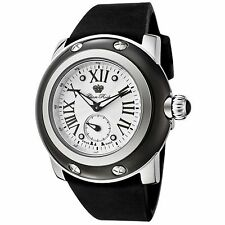 New Glam Rock GRD10029 Miami Black Silicone White Dial Stainless Steel Watch