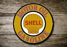 Shell Motor Oil Metal Sign, Advertising, Gas, Oil, Vintage, Garage Decor, 915