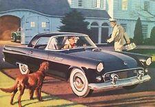 1955 Ford Thunderbird  FOMOC Crown Vic Hot Rod print car ad gift 1956