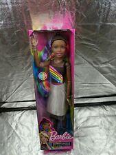 "Barbie 28"" Rainbow Sparkle/ Hair (Dark Brown/ Black Hair)"