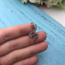 10pcs Snake Charms Tibet silver Charms Pendants DIY Jewellery Making crafts