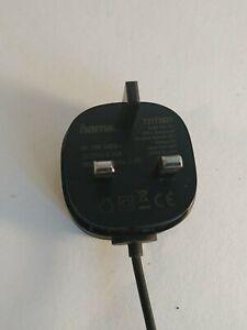 Hama Mobile Charger, Micro USB, 2.4A, with UK plug, black
