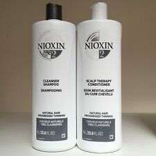Nioxin System 2 Cleanser & Scalp Therapy Conditioner DUO SET 33.8 oz - NEW!!!