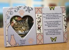 New Pet Cat Paw Print Stepping Stone Grave Memorial Heart Message Photo Frame
