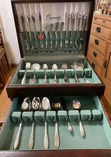 Oneida Community LADY HAMILTON SilverPlate Service for 8 + Extras in Case 63 pcs