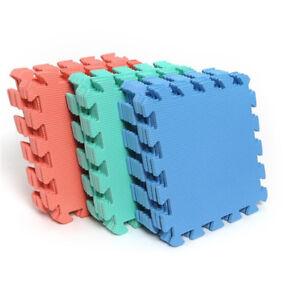 10pcs Puzzle Floor Foam Gym Mats Thick Squares Tile Kid Play Pads HA BH PYUBI