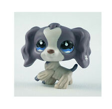 Littlest pet shop Figure Toy Gray cocker spaniel dogs puppy Lps525