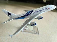 20CM Solid malaysia airlines A380 Passenger Airplane Plane Metal Diecast Model