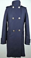 TOMMY HILFIGER Damen Mantel Coat Parka Navy Wollmantel Wintermantel Gr.34 NEU