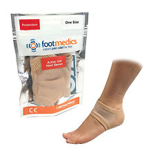 TALARMADE FOOTMEDICS CRACKED FOOT PROTECTION COMFORT SORE ACTIVE GEL HEEL SLEEVE