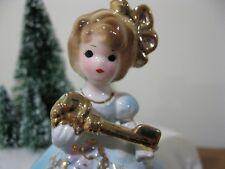 Vintage Josef Originals Figurine Japan Girl Key Kitschy Xmas New House
