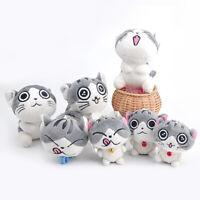 Lovely Cute Cat Plush Doll Toys Stuffed Animal Bolster Key chain Keyring Random