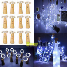 Lots 20 LED Copper Wire Wine Bottle Cork Battery Operated Fairy String Lights 2M