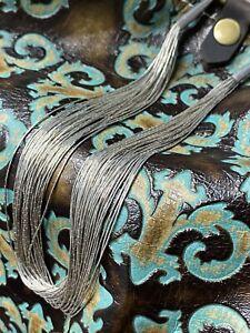 """Native American Liquid Silver Necklace 30 strand 18"""""""