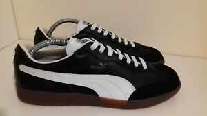 Puma Liga Trainers size UK 8 Leather 80s Casuals Vintage rare Samba Roma era