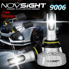 NOVSIGHT 50W 10000LM 9006 HB4 LED Headlight Bulbs Conversion Kit Flicker Decoder