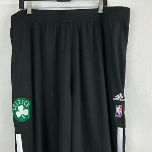 Adidas Boston Celtics Warm Up Basketball Pants Button Snap NBA Black Size 4XL2