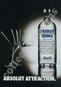 ABSOLUT Vodka - Absolut ATTRACTION advertisement - A4 size HD print ONLY