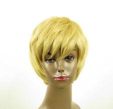perruque afro femme 100% cheveux naturel courte blonde ref LAET 02/22