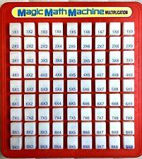 Vintage Red 1988 Magic Math Multiplication Lanard Toy