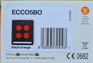 Télécommande ECCO5 noire et orange Nice Home