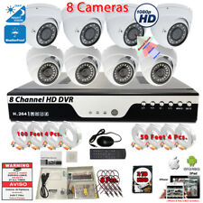 8 Channel 1080p Complete CCTV Surveillance Security Camera System Set with 2TB