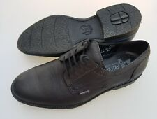 MEPHISTO Air-Jet Black Leather Blue Accents Lace Up Shoes Men's US 10 NICE