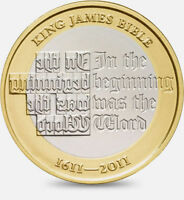 2011 £2 KING JAMES BIBLE 400TH ANNIVERSARY TWO POUND COIN HUNT 21/32 RARE 2 n