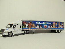 DCP 1/64 SCALE FREIGHTLINER CASCADIA (WAL-MART) CAB WITH DRY VAN TRAILER #32248