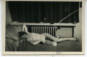 Akt junge hübsche Frau nackt schlafend künstlerisch Vintage Lupex Papier c.1935
