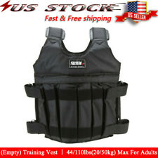 44lbs-110lbs Adjustable Weighted Workout Weight Vest (empty) Training Fitness