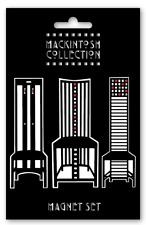 Charles Rennie Mackintosh Dossier Haut Chaise emblématique Design Réfrigérateur Home Set d'aimant