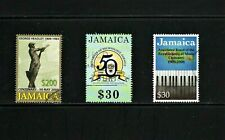 Jamaica -- 3 diff used commemoratives from 2008-09 -- cv $10.15
