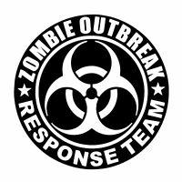 Zombie Outbreak Response Team Sticker  Decal  Funny Toxic Apocalypse 4WD 4x4 Car
