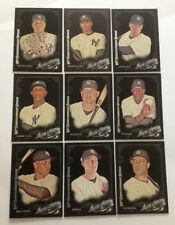 2015 TOPPS  ALLEN & GINTER .  BLACK X  . YANKEES  TEAM SET . w/ AROD . 12 cards