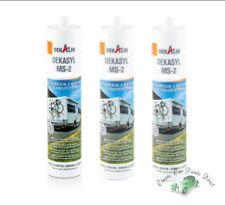 Dekalin Dekasyl MS-2 290ml x 3 Elastic Adhesive & Sealent in BLACK Caravans etc
