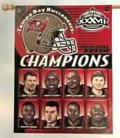 Tampa Bay Buccaneers Flag Super Bowl XXXVII Champions Players NFL