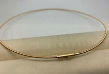 Fäden 24K vergoldet jede Länge 3reihiger Gold Halsreif Bajonettverschluss 585er