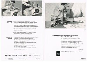 LEITZ BEOON Notice/Instructions/Anleitung - 4 pages / Seiten  - 1960