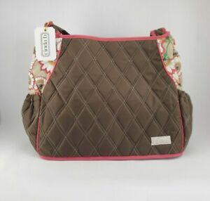 Cinda B Tote Bag Brown And Pink