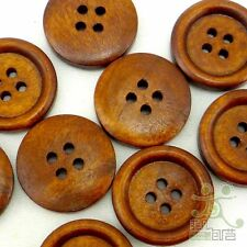 20 pcs Lots wood round Buttons 20mm 4 holes scarpbook embellishment craft